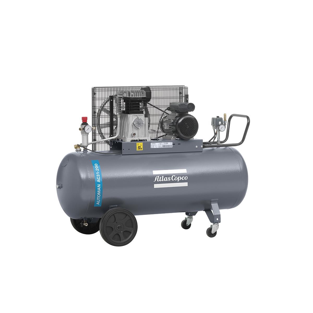 Piston Air Compressors - 2kW Piston Air Compressor AC100E500