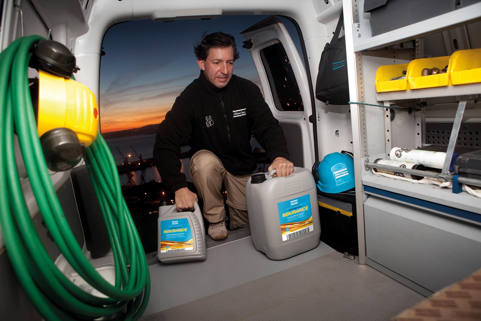 Service Technician in Service Van