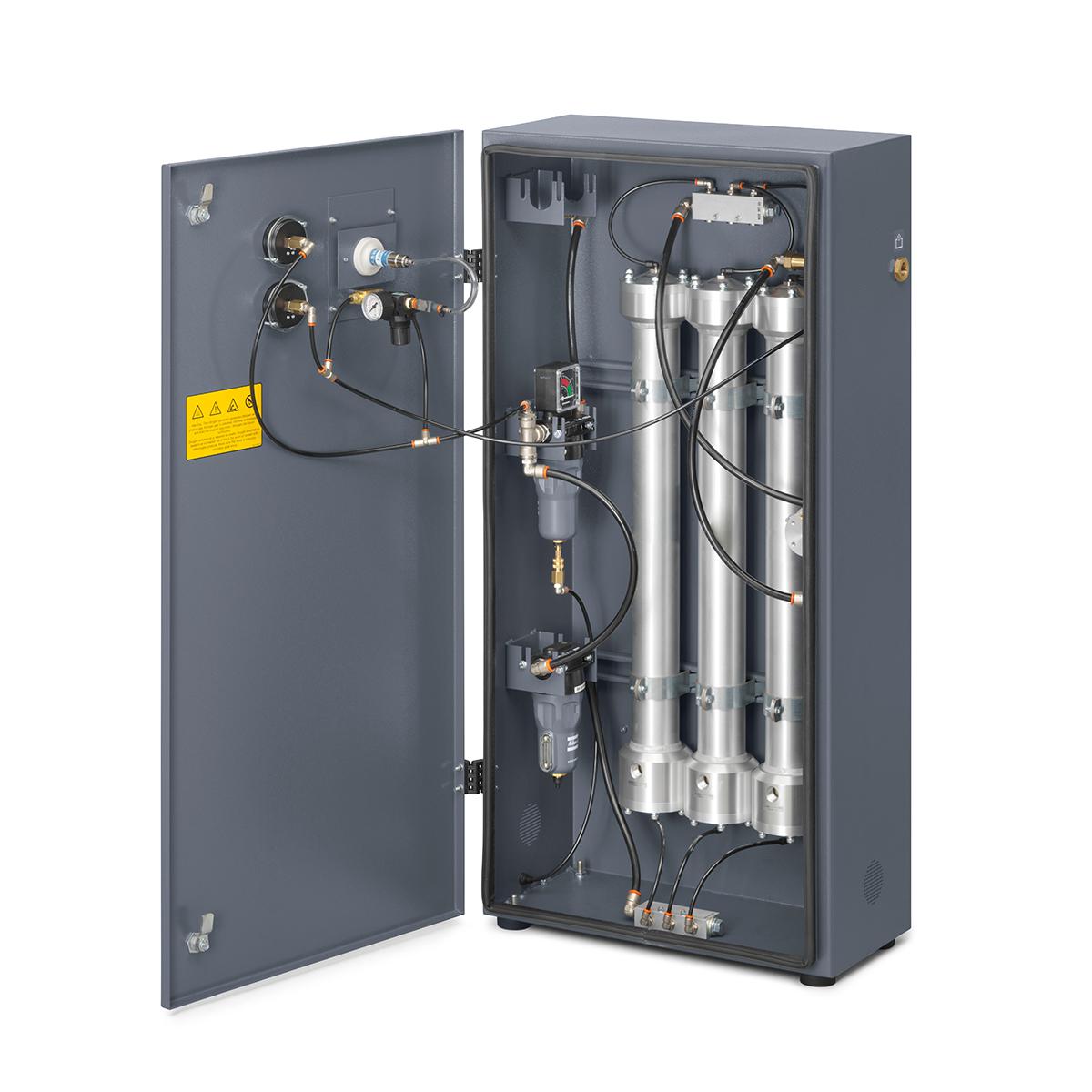 Inside of Membrane Nitrogen Generator - Model: NGMs3